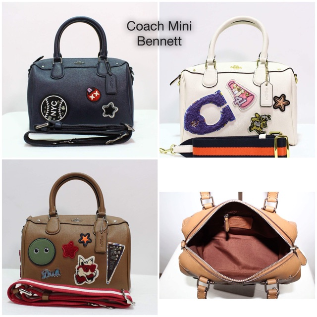 cf25cdd416022 Coach Mini Bennett Wid Patches