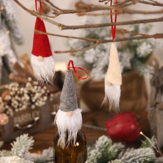 Wine Bottle Christmas Tree Craft.Decoration Small Multi Use Diy Gift Hanging Faceless Doll Christmas Tree Wine Bottle Cover