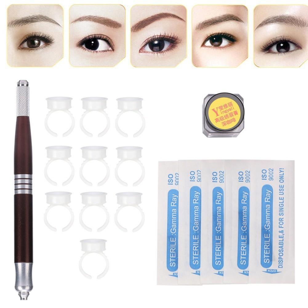 50Pcs Makeup Eyebrow Tattoo Blade Microblading Needles Portable DIY Professional   Shopee Philippines