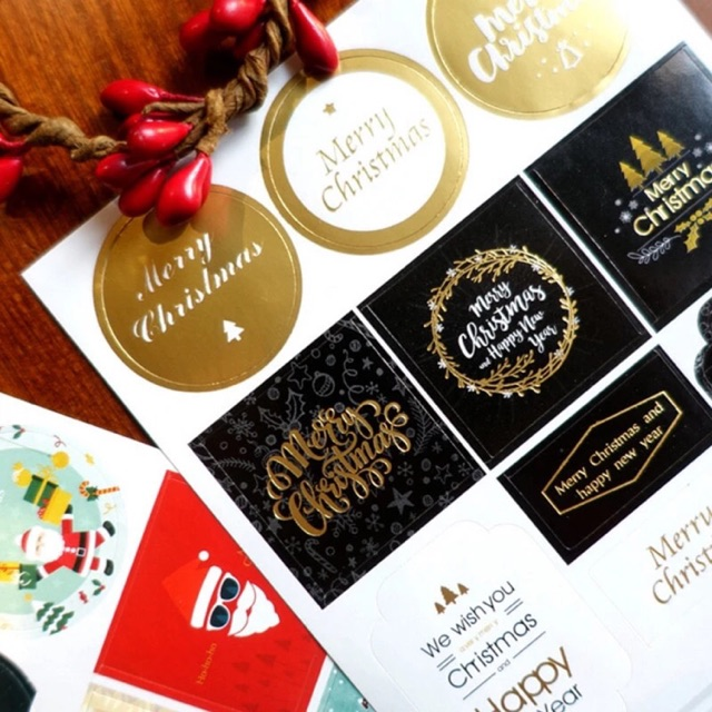 Christmas Sticker Labels for Holiday Presents