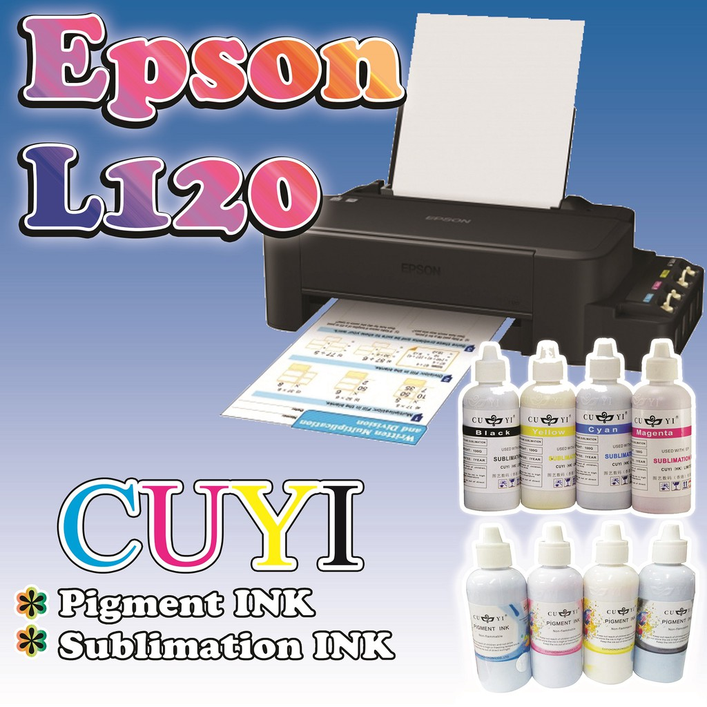 EPSON L120 PRINTER with Sublimation/Pigment INK