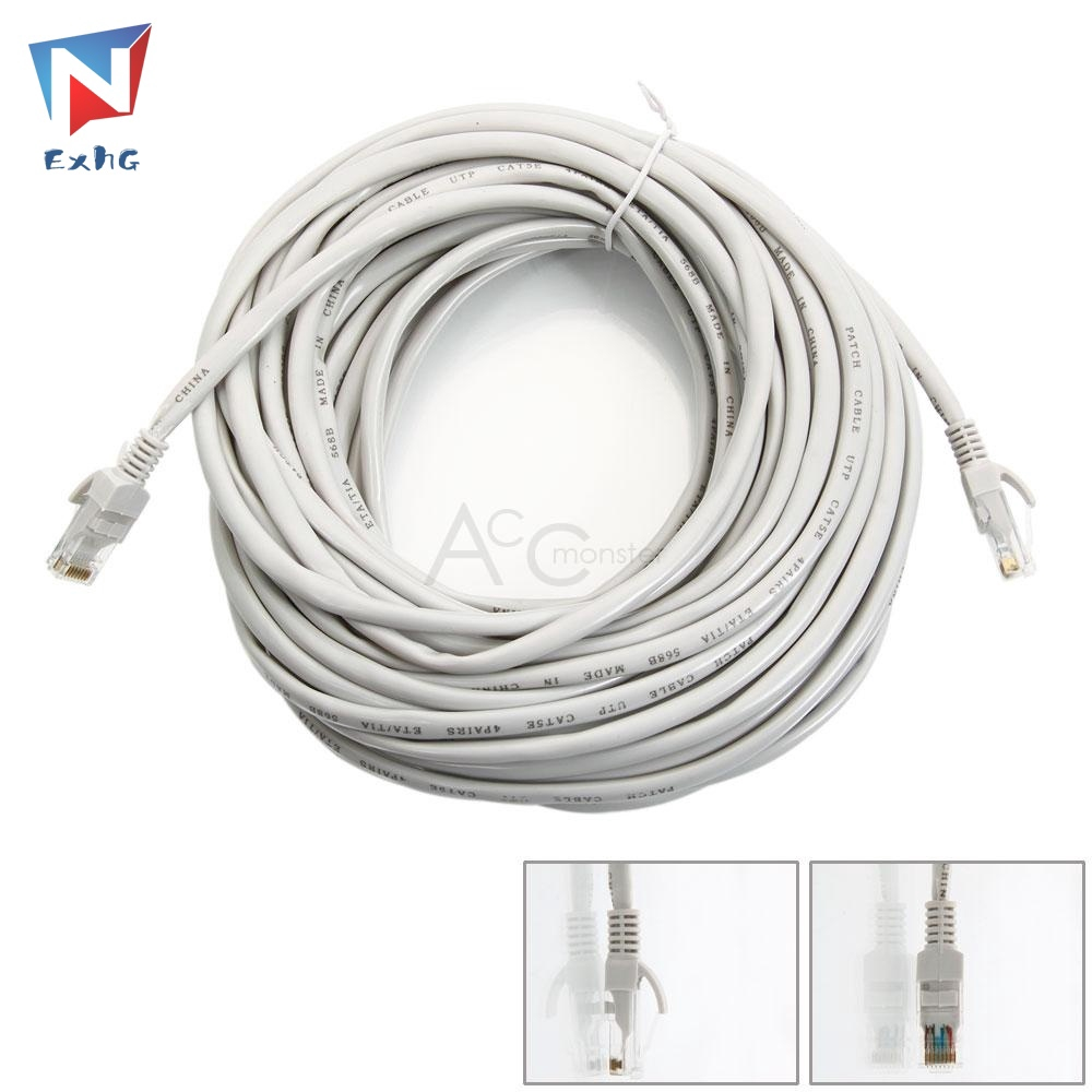 Exhg High Quality Newworkcord 50ft Cat5 Cat5e Ethernet Rj45 Lan Cable Wire Male Cord 15m High Quality Ph Shopee Philippines