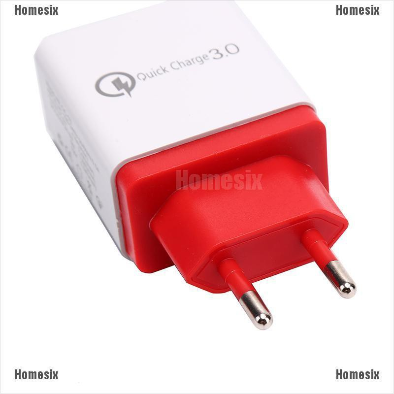 Qualcomm Dual USB Car Charger 3.0A Socket Power Outled Red-Orange