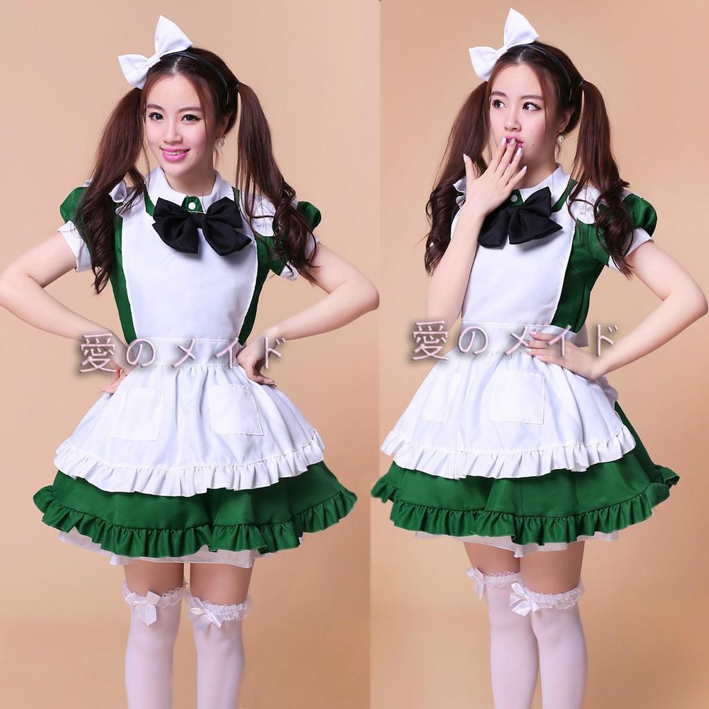 Restaurant Maid Uniform Super Cute Cute Green Maid Costume Cosplay Ladies Anime Costume Shopee Philippines