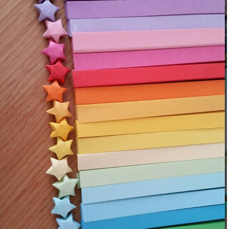 10Pack Fashion Mixed Color Handcraft Origami Lucky Star Paper Strips Craft Decor