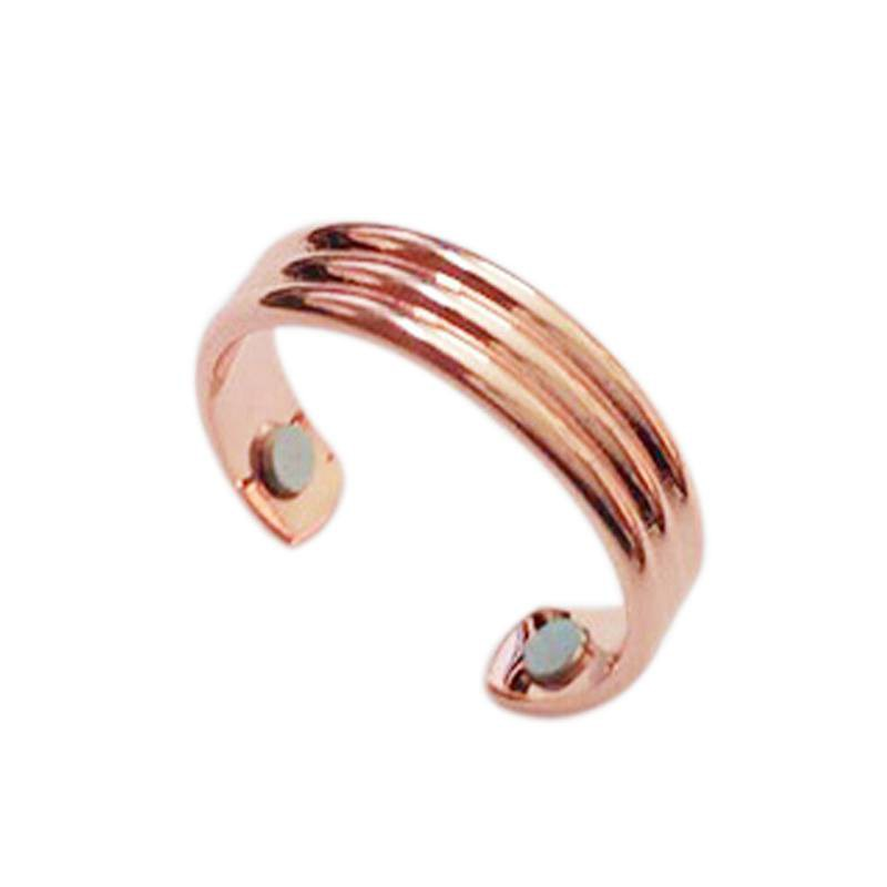 Rose Gold Black Color Magnetic Therapy Ring Copper Unisex Healing Keep Sleeping