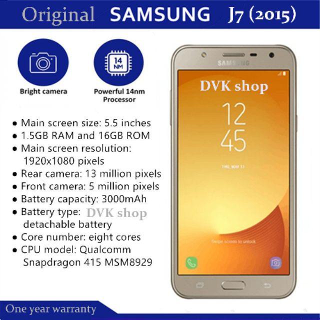 Original Samsung Galaxy j7 2015 mobile 4G version smartphone