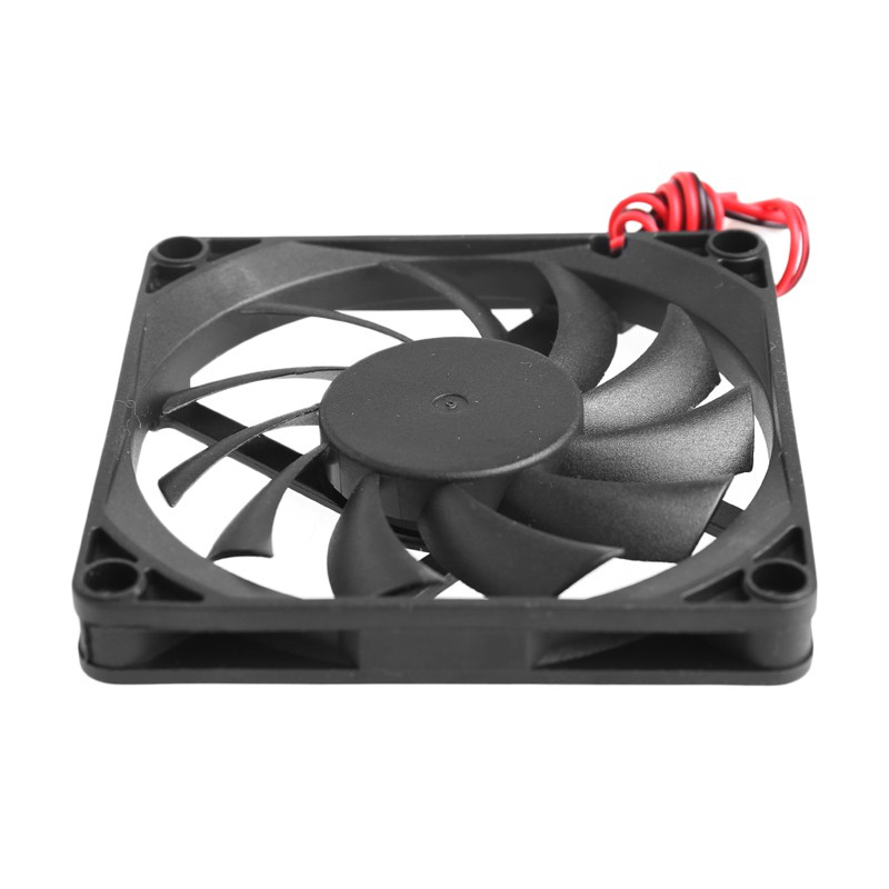 CPU Cooling Fan 80x80x10mm 12V 0.15A 2 Pin Power Connector Filter