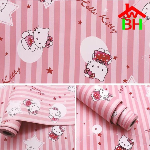 Hello Kitty Wall Paper Sticker Shopee Philippines