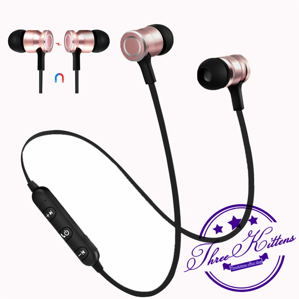 Dotec Bluetooth Headset Magnetic Wireless Earphone 4.2