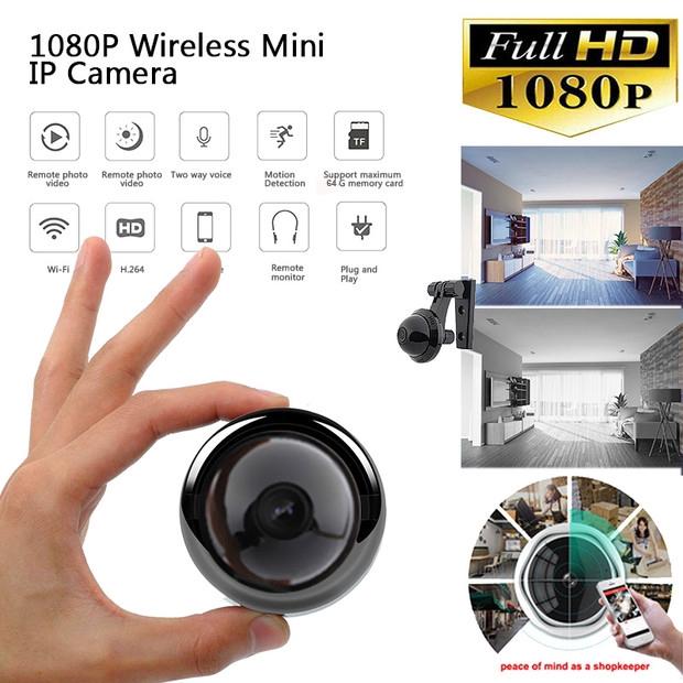 1080P WIFI IP Camera CCTV Mini Spy Camera w/Night Vision