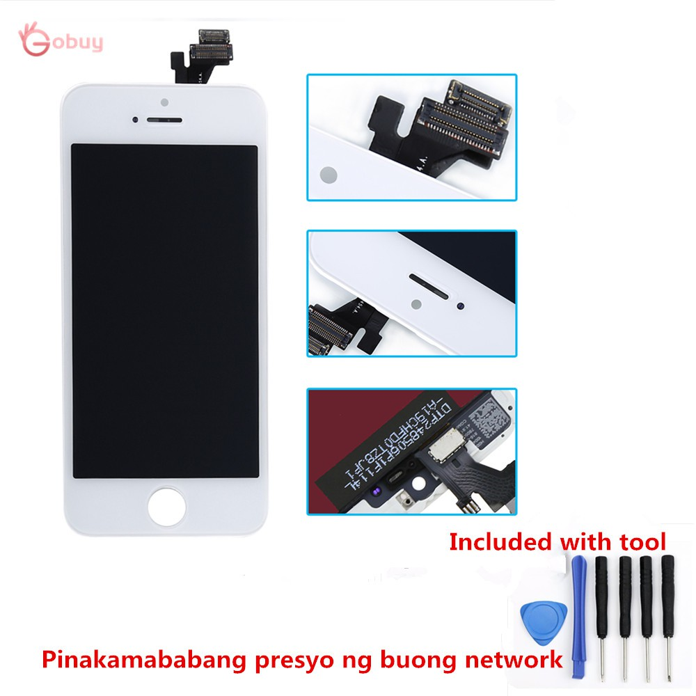 iPhone 5 LCD Screen Touch Digitizer Top Glass Frame GOBUY