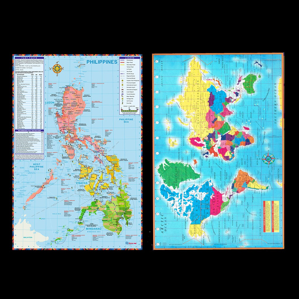Picture of: Map Of The World Map Of The Philippines Shopee Philippines