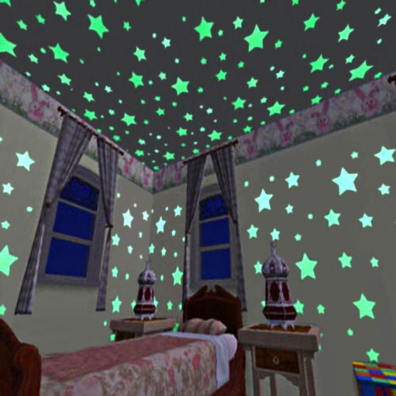 Glow in The Dark Alphabets A-Z Plastic Stickers Ceiling Wall Bedroom