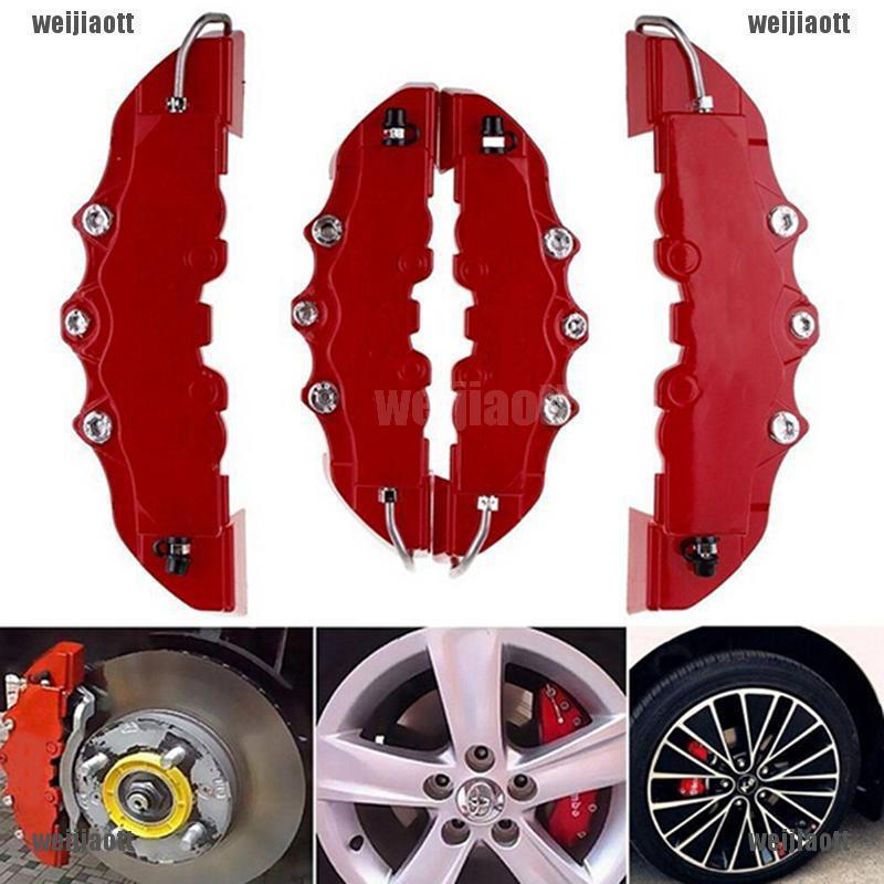 1 Pair Aluminum Car Brake Caliper Protector Cover for Wheel Hub 16in-17in Medium