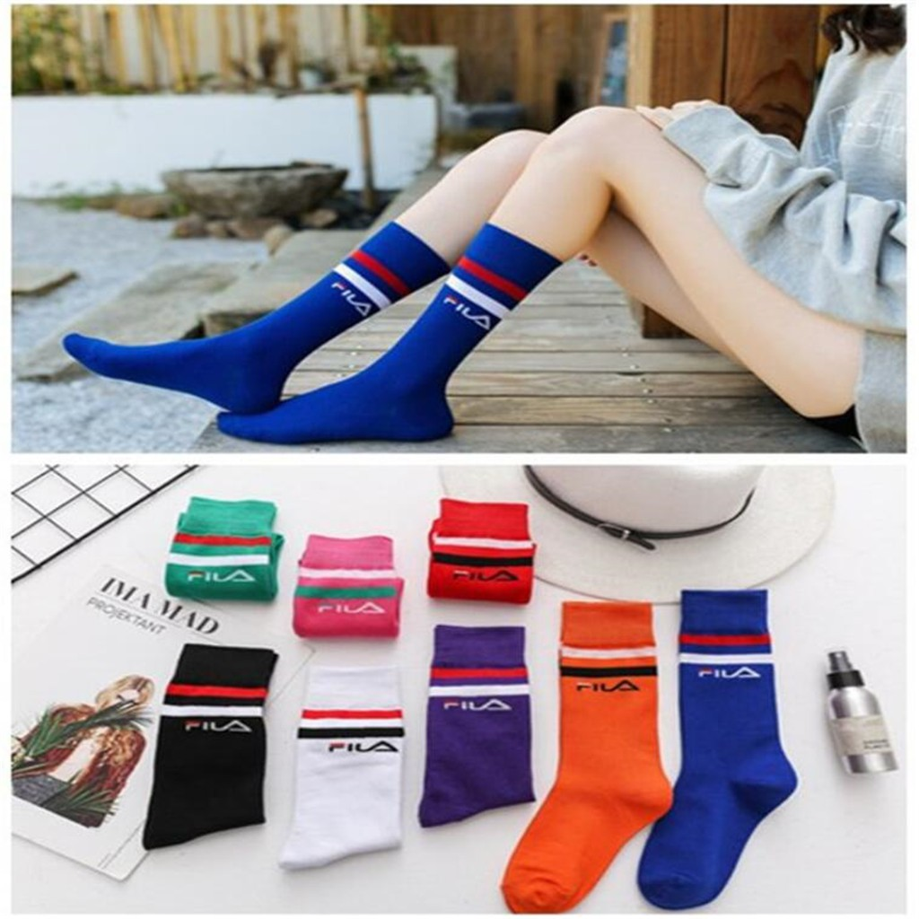 b3ef8b003 Tide Women s Socks Cotton Knee High Socks College Sport Sock ...