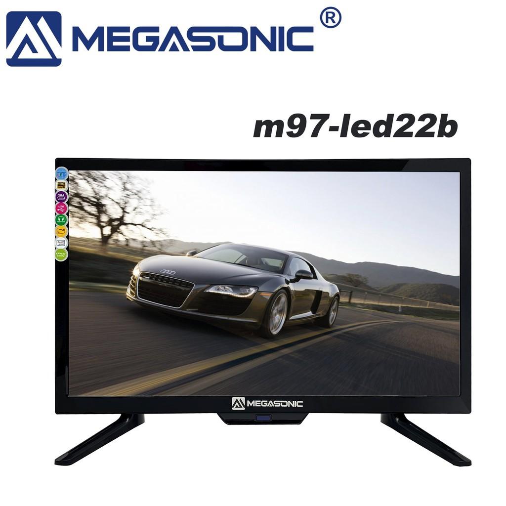 "MEGASONIC M97-LED22B  Screen 18.5"" Inch LED TV 22"