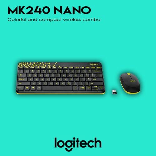 a75c9c3fe2f Logitech MK240 Nano Wireless Keyboard & Mouse (White) | Shopee Philippines
