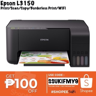 Epson L3150 EcoTank ALLinONE Wifi Printer | Shopee Philippines