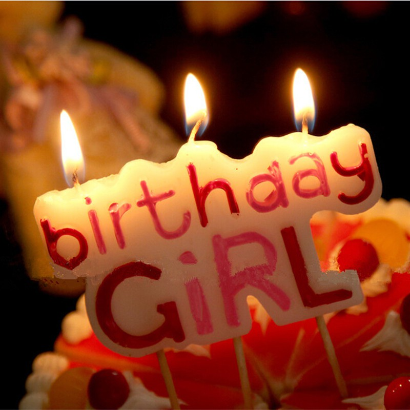 Groovy Birthday Girl Candle Kids Candles For Cake Decoration Shopee Personalised Birthday Cards Veneteletsinfo