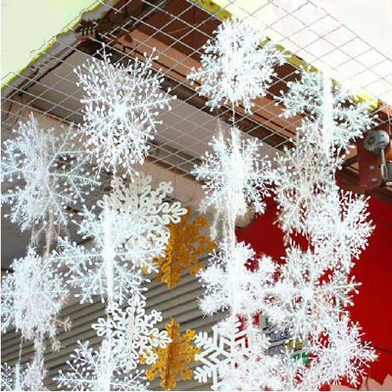 30pcs Lot 11cm Christmas Ornament White Christmas Snowflake Shopee Philippines