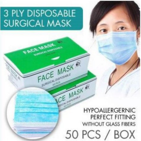 50pcs disposable face mask