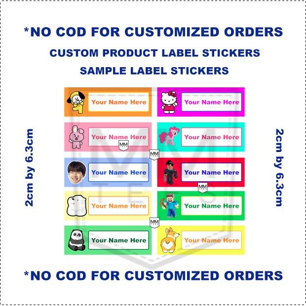 NO COD 36pcs Customized Personalized Sticker Name Label 2cmx6 5cm NO COD