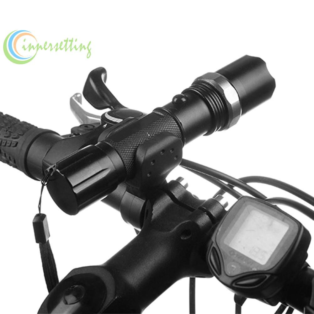 360° Cycle Bicycle Light Lamp Torch LED Flashlight Mount Bracket Holder Clip Jg