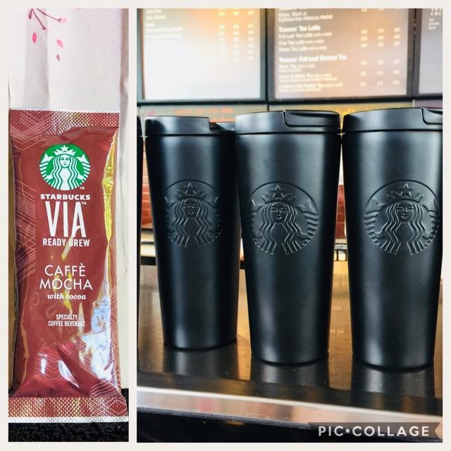 Cod Starbucks Black Matte Tumbler On Hand