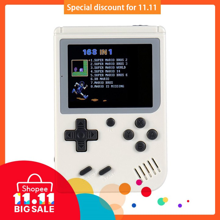 Handheld Game Console 3 0 Inch 168 Games Retro FC GamePlayer