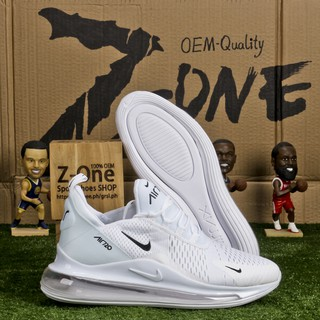064945efc9ad0 Nike AIR MAX 720 FLYKNIT Running Shoes for men White Black