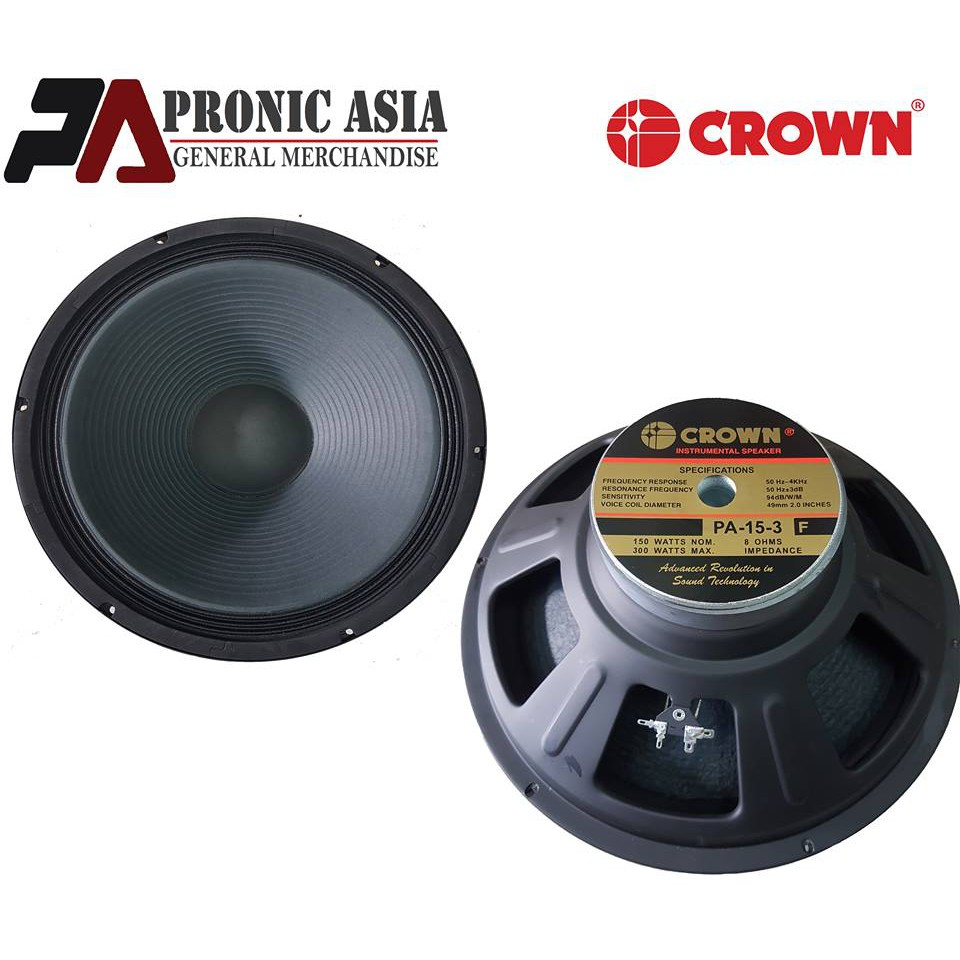 Crown PA 15-3 300 watts Instrumental Speaker