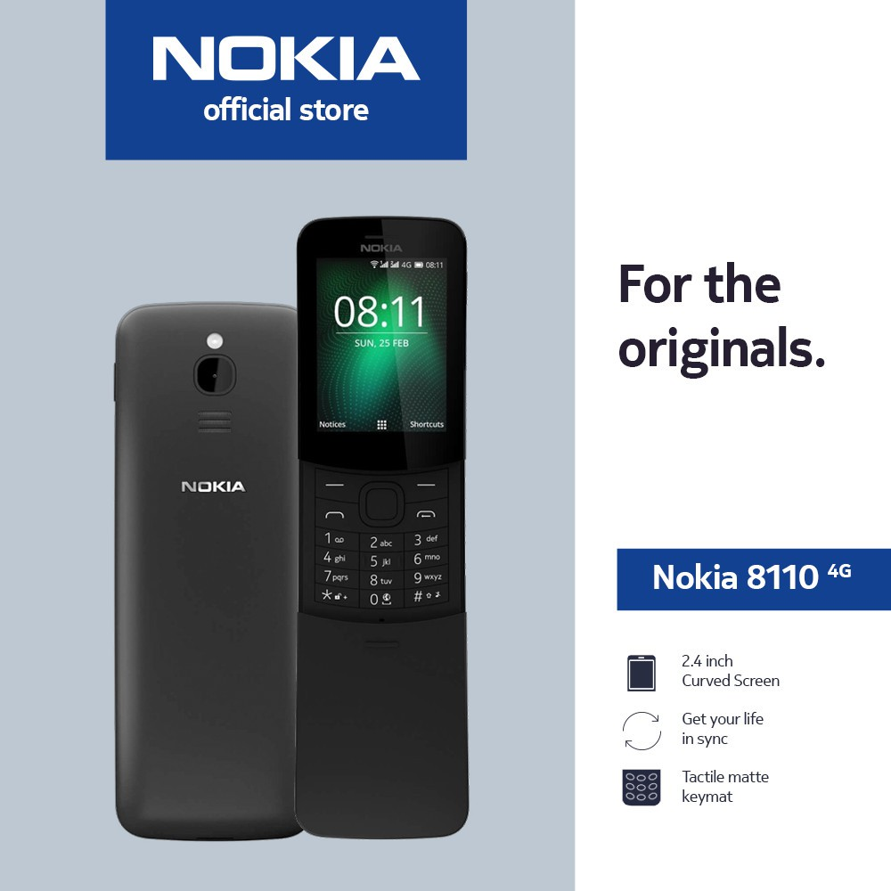 Nokia 8110 4G | Smart Feature OS powered by KaiOS