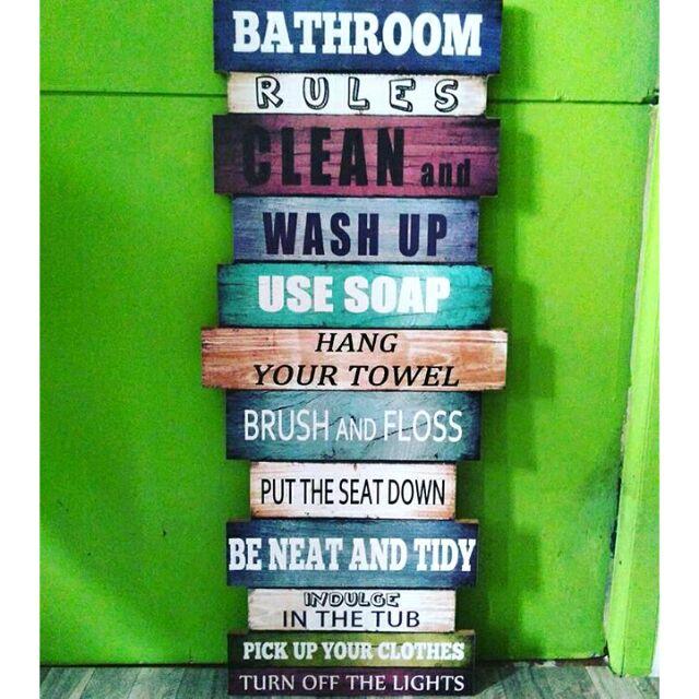 Bathroom Rules Wall Decor Shopee Philippines