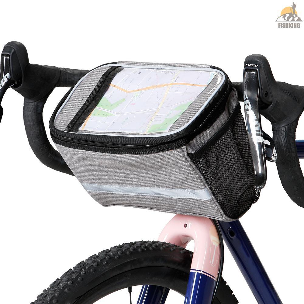 Bike Handlebar Bag Cycling Top Tube Storage Pack MTB Bicycle Front Frame Pannier