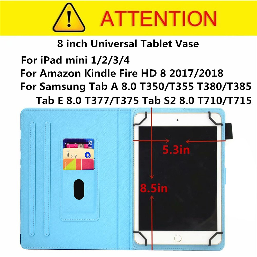 8 inch Universal Case For Amazon Kindle Fire HD 8 2018/2017