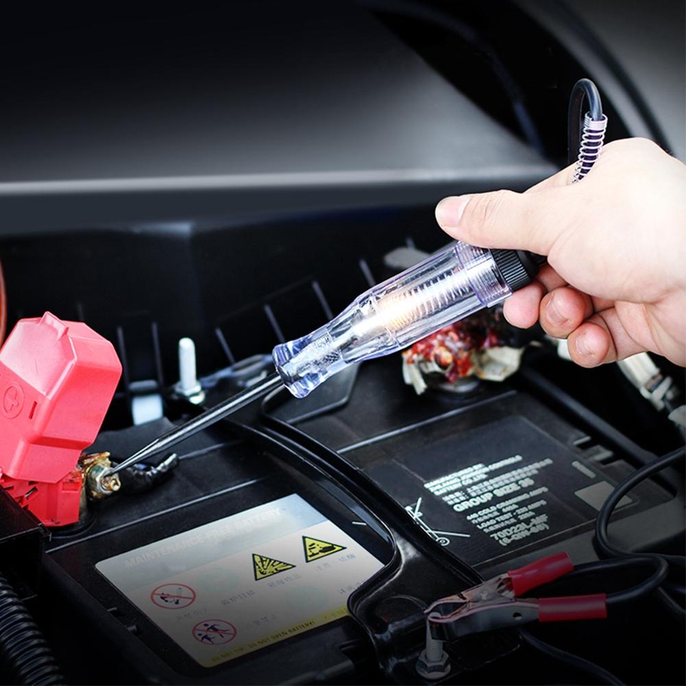 DC Car Truck Voltage Circuit Tester VoltMet Long Probe Pen