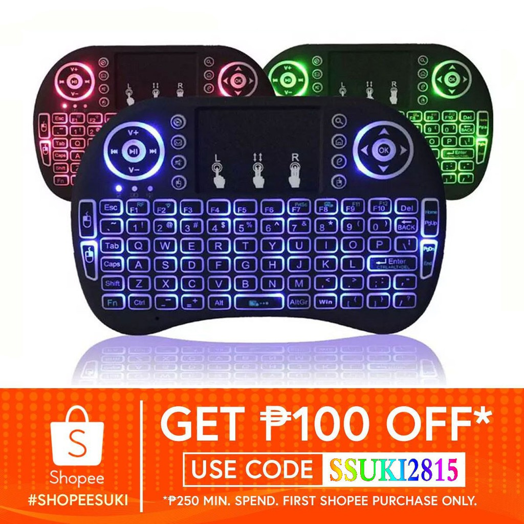 3-Color Backlight Wireless Mini Keyboard With Touchpad