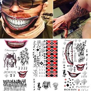 Halloween Multi Squad Body Type Batman Joker Tattoo Sticker