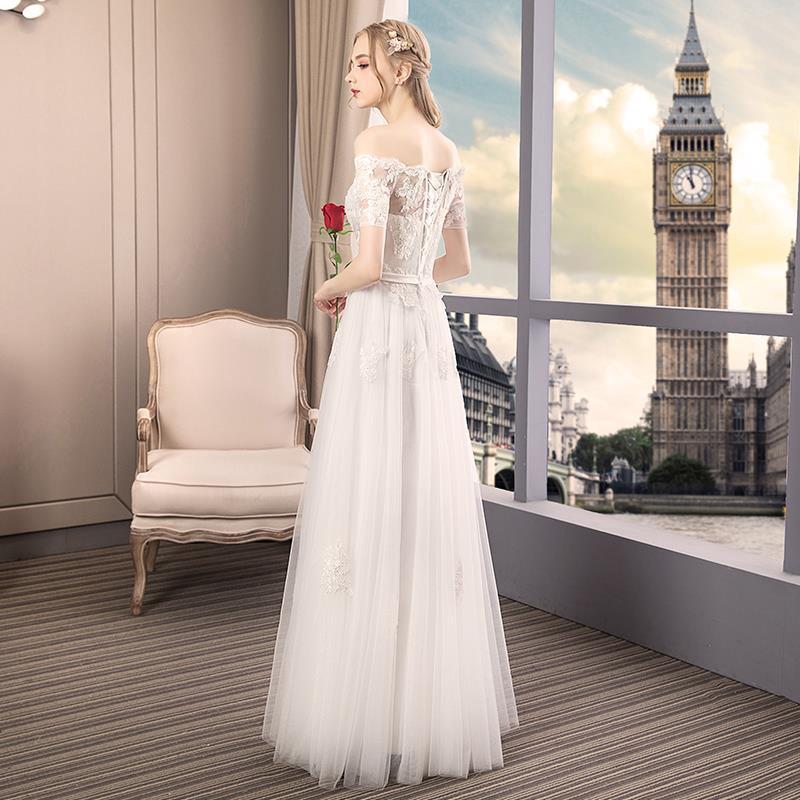 Wedding Gown Dress 2020 Word Shoulder Summer Wedding Dress White Dress Shopee Philippines,Best Wedding Dress Designers 2020