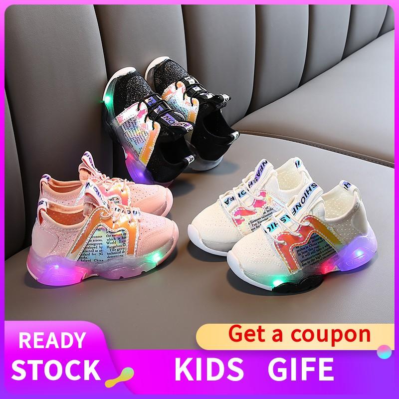 Toddler Children Kids Baby Boys GIrls Squeaky Single Shoes Sneaker Prewalker KA
