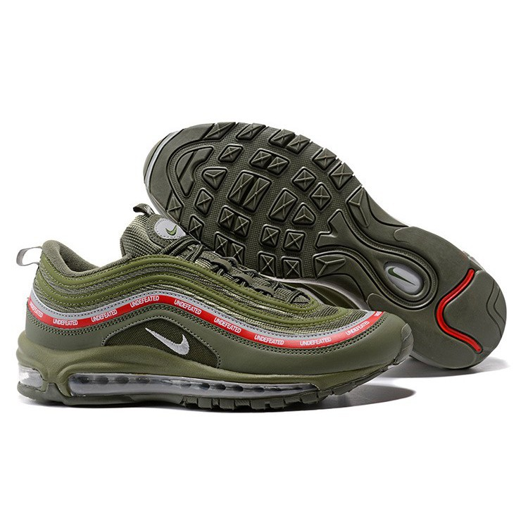 f327caf8ef57 Mens Womens Nike Air Max 97 OG UNDFTD Undefeated Shoes Silver AJ1986-300
