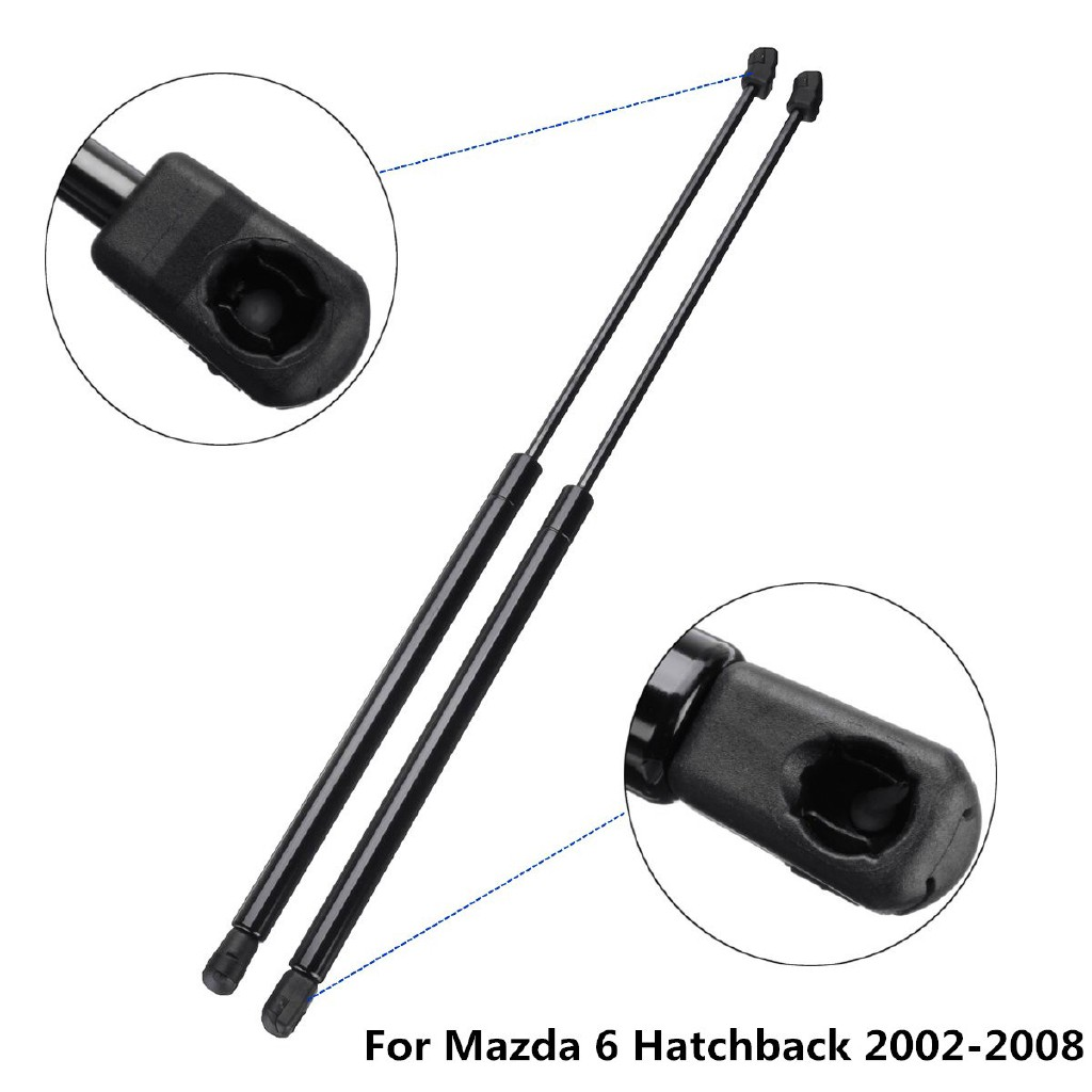 Pair Of Tailgate Boot Gas Struts fits Mazda 6 Hatchback GG 2002-2008