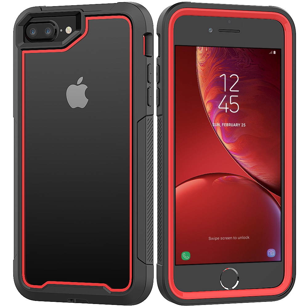 iPhone 7 8 6 6s 6 Plus X XR Xs Max Shockproof Case Hard Clear 360 Full Cover Colour Bumper Armor