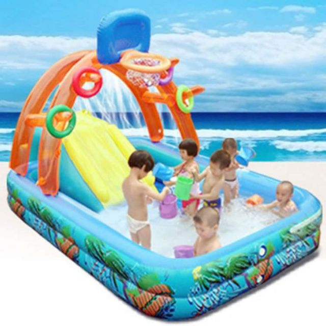 Swimming Pool With Slide And Basketball Shopee Philippines