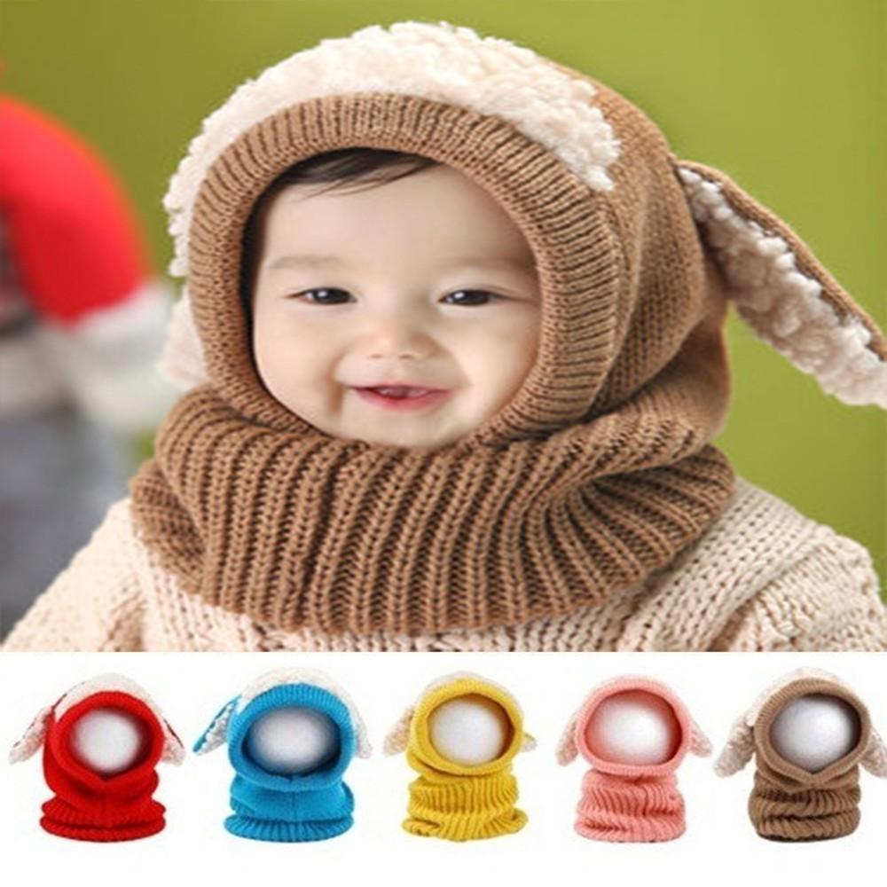 Scarf Beanie Hat Scarf Set Kids Boys Girls Hat Hooded Hat Cap Scarf Cloak Set