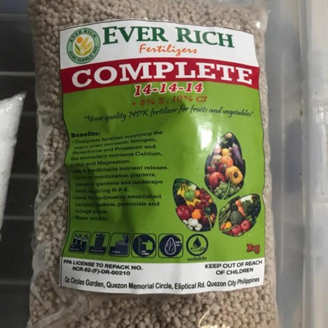 Fertilizer Complete 14-14-14 1Kilo (Repacked)