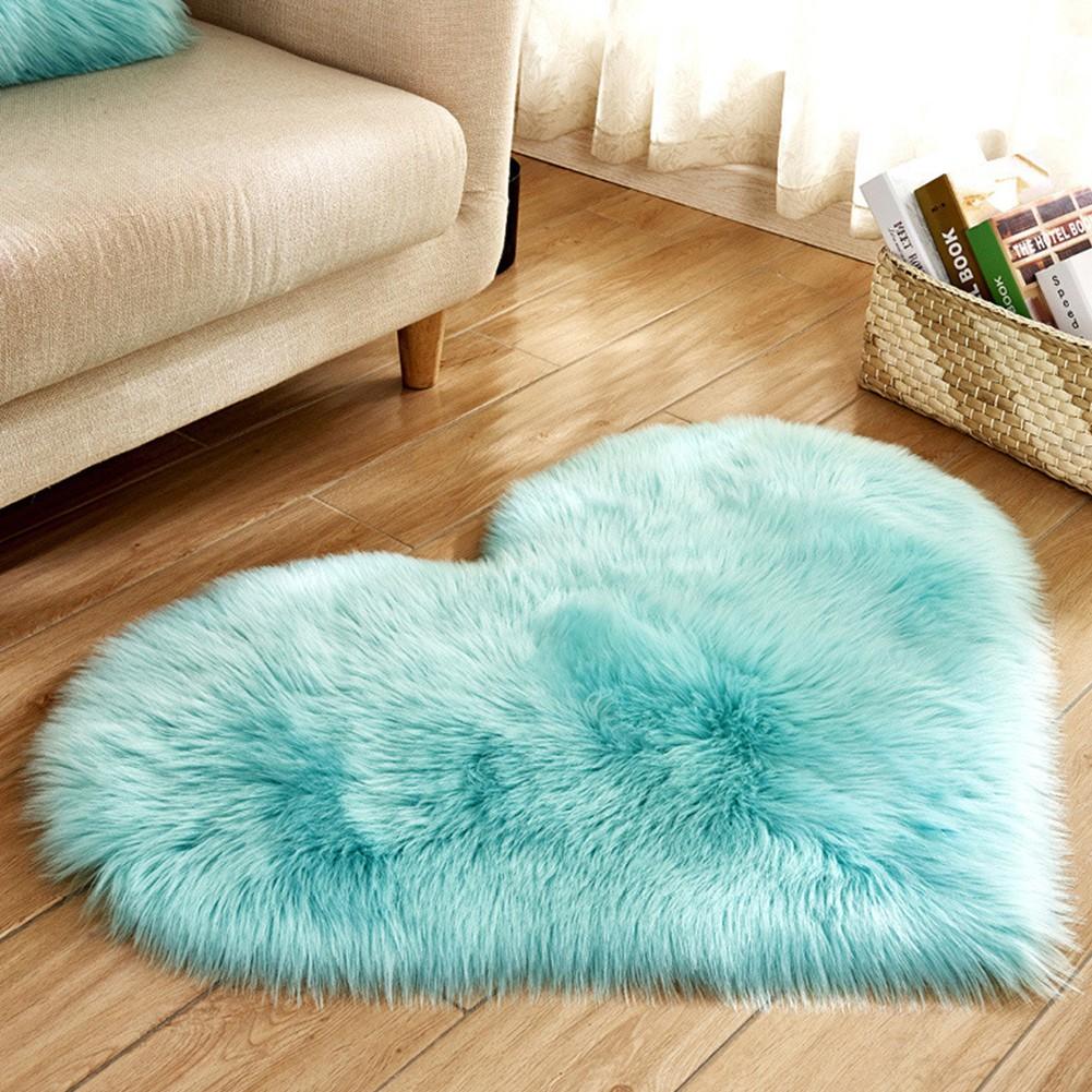 Love Heart Rug Artificial Wool