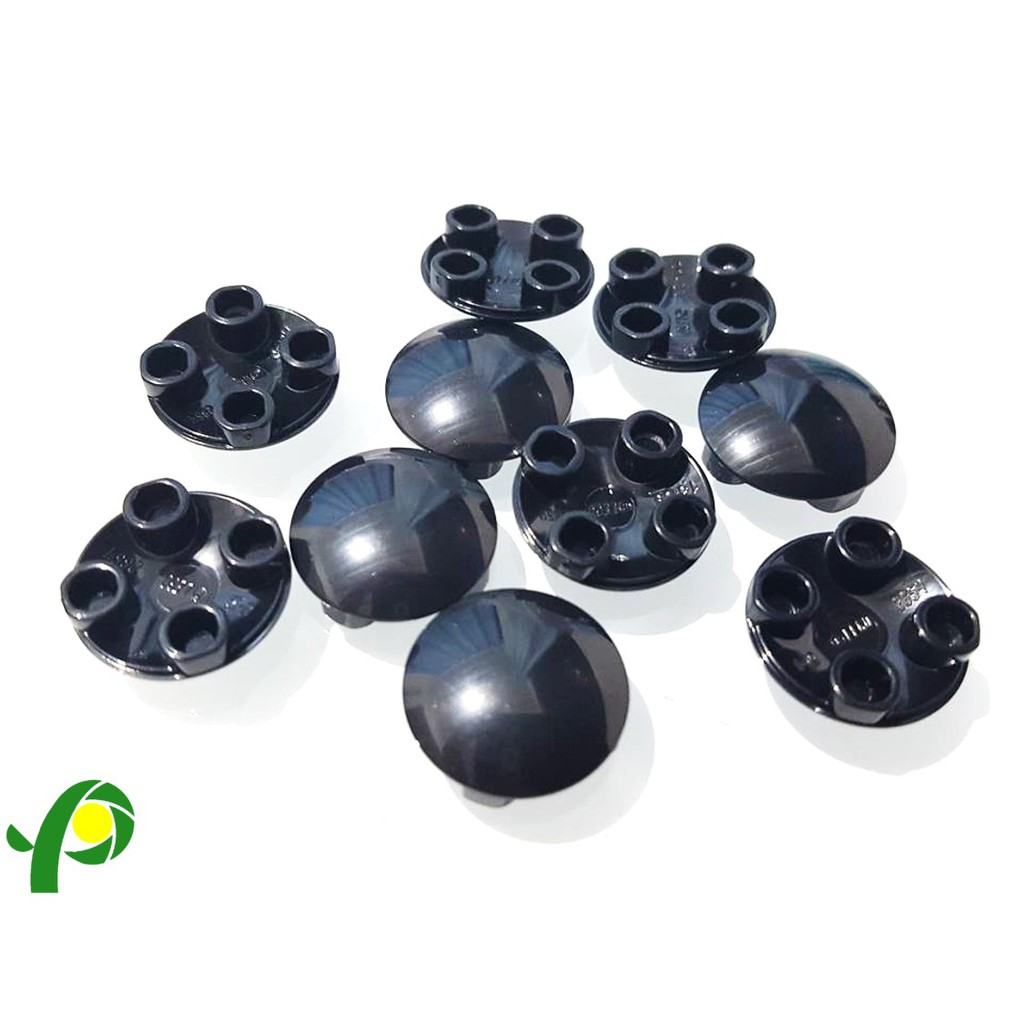 Lego 2654 Plate Round Boat Stud Black x 10 pieces