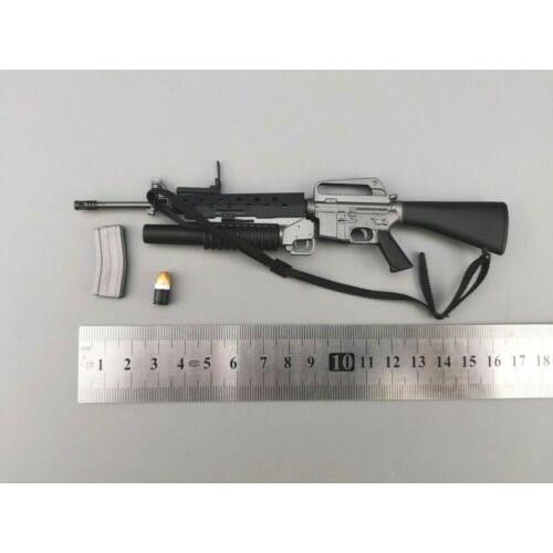 1//6 M16A2 Machine Gun Rifle Model Plastic Weapon Toys Fit 12/'/' Action Figure